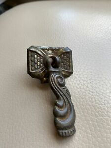 Antique Ironmongery Drawer Handle 1900s Victorian Cast Iron 4 Available
