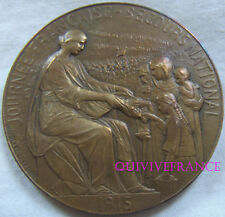 MED5893 - MEDAILLE JOURNEE NATIONALE DU SECOURS NATIONAL 1915 par H. LEFEBVRE