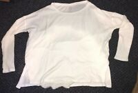AERIE by AMERICAN EAGLE Women's Juniors White Long Sleeve VG T Shirt Blouse XS