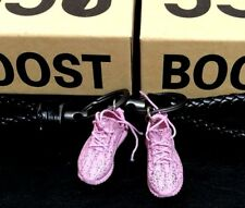A Pair of 3D Keyring with BV leather keychain Yeezy Boost 350 V2 'Pink'