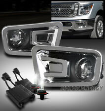 FRONT BUMPER DRIVING FOG LIGHTS LAMP CHROME W/50W 6K HID+HARNESS FOR 16-17 TITAN