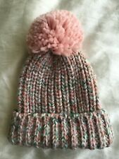 Pull & Bear Pink Knitted hat with Pom Pom.