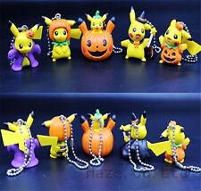 Pokemon keychain Pendant  Pikachu Movie PVC Mini Figures 5pcs/Set
