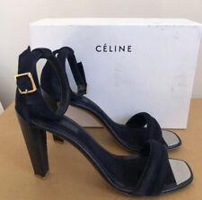 CELINE Sandal. Navy Suede.Size 40