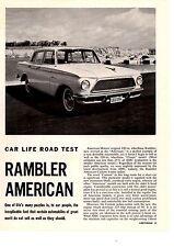 1961 RAMBLER AMERICAN 195/125-HP  ~  ORIGINAL 5-PAGE ROAD TEST / ARTICLE / AD