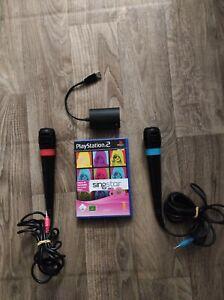 Singstar 80s + Original Singstar Mikrofone + USB-Konverter Playstation 2 PS 2