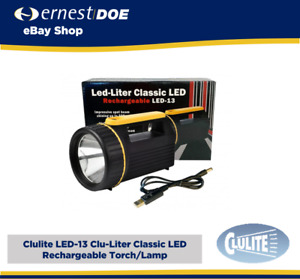 Clulite LED-13 Clu-Liter Classic LED Rechargeable Torch/Lamp