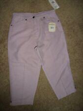 Women's Woolrich Pineville Light Purple/Lavender Cropped Capri's Size 4/6 NWT