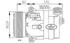 NRF Compresor, aire acondicionado OPEL VECTRA OMEGA SAAB 9-5 VAUXHALL 32021