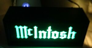 OLD SCHOOL MCINTOSH LOGO LIGHTED SIGN SHIPPED FROM THE U.S.A. LAST ONE AVAILABLE
