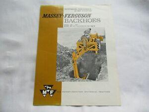 Massey Ferguson MF 185 220 backhoes  brochure