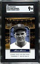 2008 Upper Deck Yankee Stadium Moose Skowron Gold New York Graded Sgc 9 Mt #2922