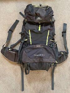 HIGH SIERRA Backpack w/ Internal Frame Tangent 45 - Adjustable Top - Gray/Yellow