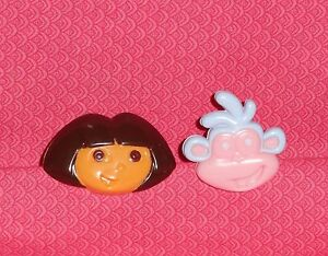Dora the Explorer,Boots Cupcake Plastic Rings,Favors,Multi-Color,DecoPac,12 ct.