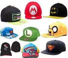Boy Kid Baseball Cap Hat Superhero Caps Batman Nintendo