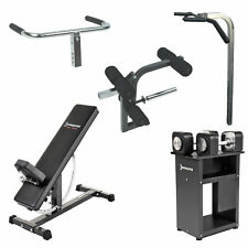 IRONMASTER Space Saver PACKAGE // Home Gym Bench Dumbbells Attachments Incline