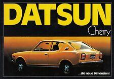 DATSUN CHERRY COUPE Nippon Youngtimer Prospekt Brochure 97