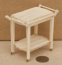 Escala 1:12 acabado natural De madera 2 en niveles Trolley tumdee Accesorio de casa de muñecas