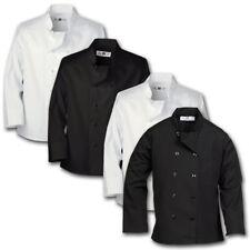 Chef Coat Kitchen Uniform White / Black Pearl / Knot Closure Breast Pocket