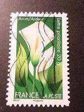 FRANCE 2012, timbre AUTOADHESIF 668 FLEURS ARUM oblitéré FLORA FLOWERS
