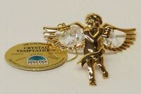3474 Angel Engel Swarovski Components 24 Karat Gold Crystal mit Kette 50 mm