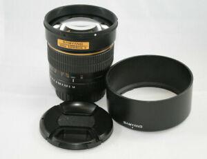 Samyang 85mm F1.4 Aspherical IF Canon EF Mount