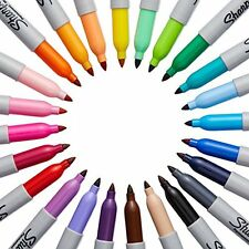 Marker Fine Point Permanent Assorted Colors Sharpie 24 Piece Set Durable Write