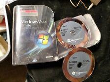 Microsoft Windows Vista Ultimate Upgrade w/ Case 32 & 64 Bit
