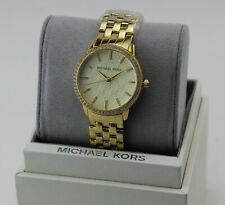 NEW AUTHENTIC MICHAEL KORS RUNWAY MK MONOGRAM GOLD WOMEN'S MK3120 WATCH