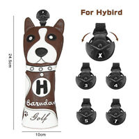 New Animal Dog Golf Hybrid Headcover Cover Rescue Utility Club Portector Brown