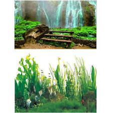 "23.5"" x 60"" Double Sided Fish Tank Aquarium Background Waterfall / Aquatic Plant"
