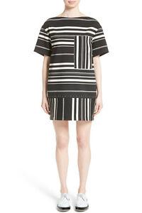 NWT 3.1 Phillip Lim. Women's Black Striped Ponte Dress- L black/white L #D177
