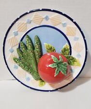 3D Tomato & Asparagus Decorative Hanging Kitchen Plate