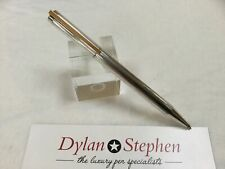 ST Dupont silver pinstriped pattern ballpoint pen
