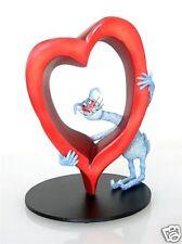 Feline Cat Figurine Statue Sculpture Heart Love Gift