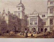 Richarson Original 1858 Color Lithograph Charlton House, Wilts 11 by 17