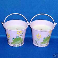 Frog Mini Bucket Candle - White Chocolate Truffle Scented - Set of 2 - NEW