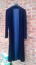 Long Deep Blue stretch Velvet  Coat /jacket hippy/boho/Lagenlook