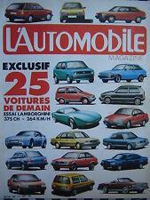 revue L'AUTOMOBILE 1983 LAMBORGHINI COUNTACH / CITROEN VISA 4X4 PROTOS / LE MANS