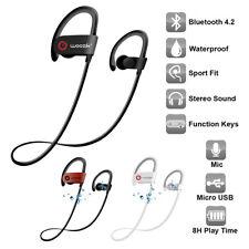 Sweatproof Sport Bluetooth Headset Wireless Headphones In-Ear Earbuds