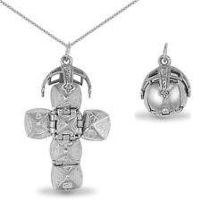 Jewelco London Sterling Silver Medium Masonic Orb Ball Charm - 18 Inch Chain