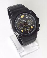 Puma Herren Uhr Rotor Chronograph schwarz gelb Edelstahl Datum PU101561002