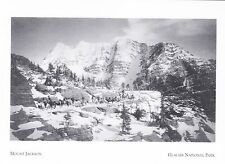 "*Postcard-""Mount Jackson"" (Trail Riders/Back) *Glacier Nat'l Park MT (A277-10)"