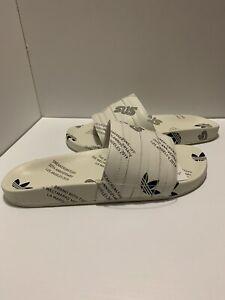 New Adidas Mens Adilette Slide Sandal Flip Flop White - Size 11 SNS FV6206 20th