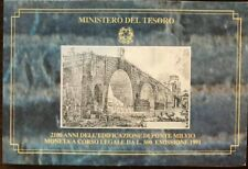REPUBBLICA ITALIANA Moneta  500 lire 1990 argento FDC 2100 anni Ponte Milvio