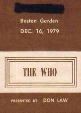 THE WHO REPRO 1979 BOSTON GARDEN 16 DECEMBER CONCERT BACKSTAGE PASS . KEITH MOON