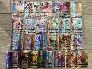 Lot 50 cartes pokémon GX françaises état neuf