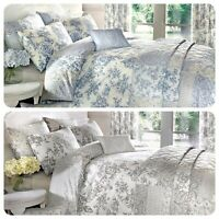 Dreams & Drapes MALTON Vintage Floral Pencil Pleat Curtains Duvet Cover Bedding