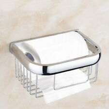 Chrome Bathroom Accessories Toilet Paper Rollers Tissue Roll Holder Basket