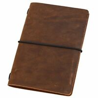 Pocket Travelers Notebook - Leather Journal Cover for Field Notes, Moleskine Cah